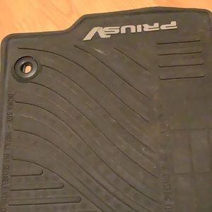 2 PruisV car floor rubber mats.